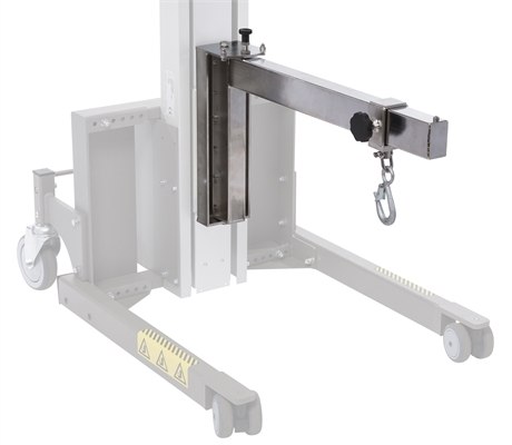 Jib arm with lifting hook