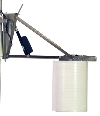 Reel handler with motorised expansion and rotation
