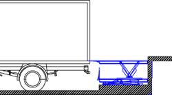 Установка гидравлического подъемного стола на пандус схема