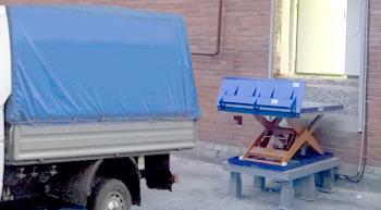 Установка гидравлического подъемного стола на пандус