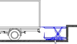Установка гидравлического ножничного стола на уровне пола схема
