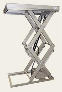 Столы из нержавеющей стали с двумя вертикальными парами ножниц