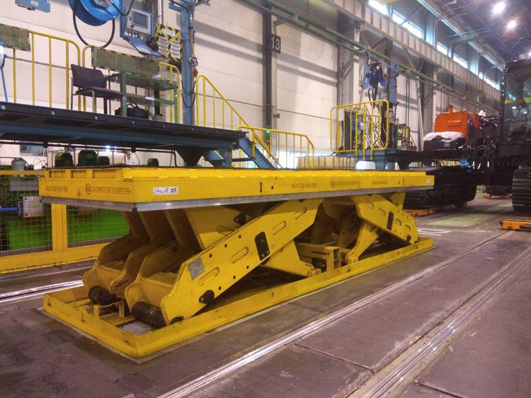 Ножничный подъемный стол грузоподъемностью 25 000 кг