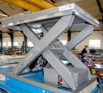 Подъемные гидравлические столы из нержавеющей стали