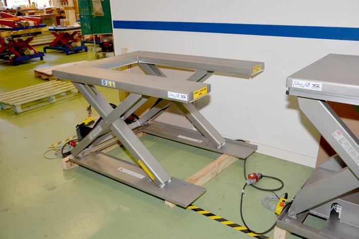 EdmoLift TUB 1000 стол из нержавеющей стали