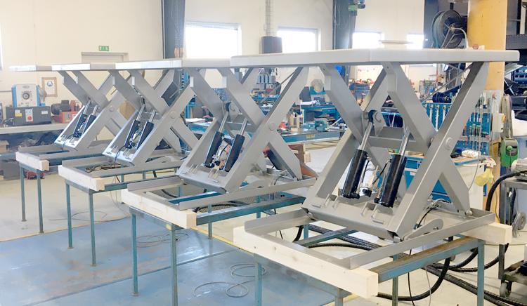 Подъемные столы из нержавеющей стали