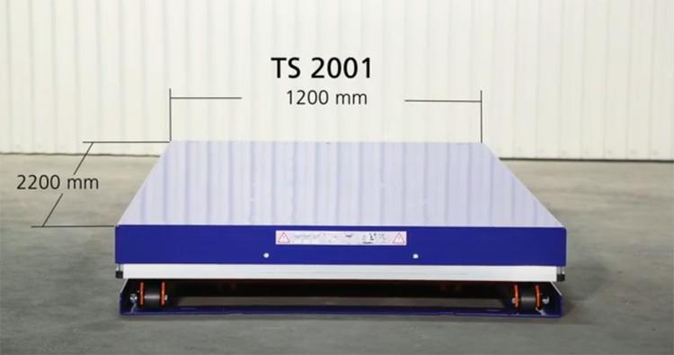 Размер платформы подъемного стола Edmolift TS 2001