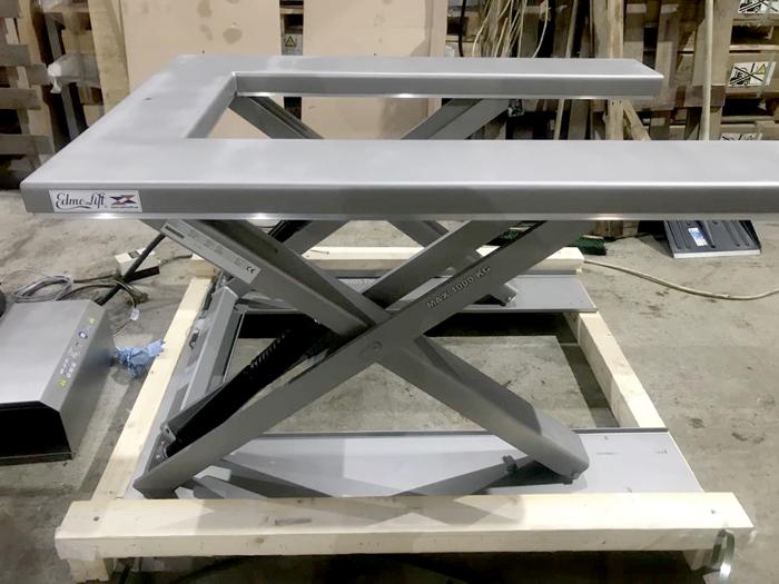 EdmoLift TUB 1000 гидравлический стол из нержавеющей стали