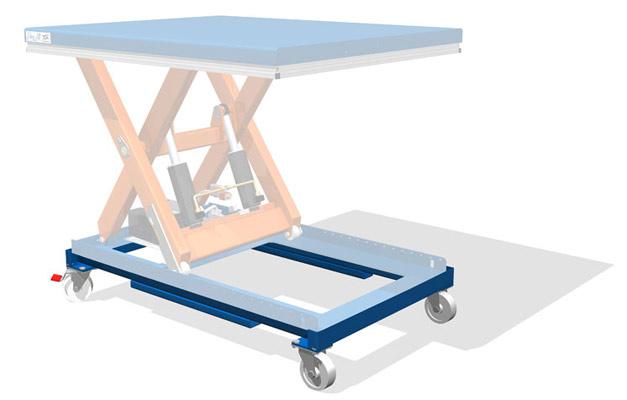 Колесное шасси для подъемных столов