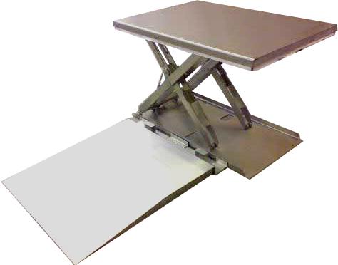 Низкопрофильный стол из нержавеющей стали TCB 1000SS с погрузочной подставкой