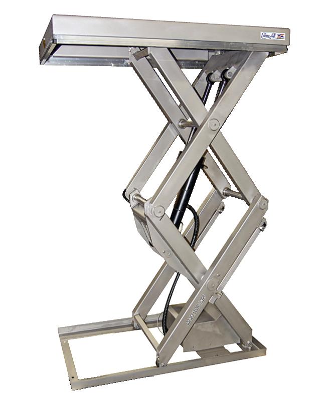 Стол из нержавеющей стали с вертикальными ножницами