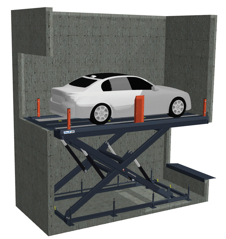 Гидравлический подъемный стол для перемещения автомобилей